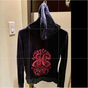 Juicy Couture Navy Blue hooded sweatshirt